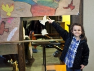 Moffet Students's art work on display