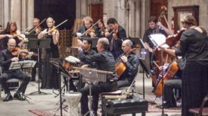 Al-Bustan Takht and Prometheus Chamber Orchestra Performing in our Musical Encounters Concerts Series last June